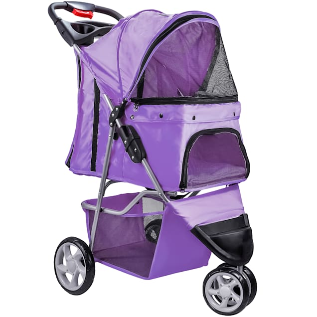Paws & Pals EZ Folding Purple Pet Stroller - Carousel image #1