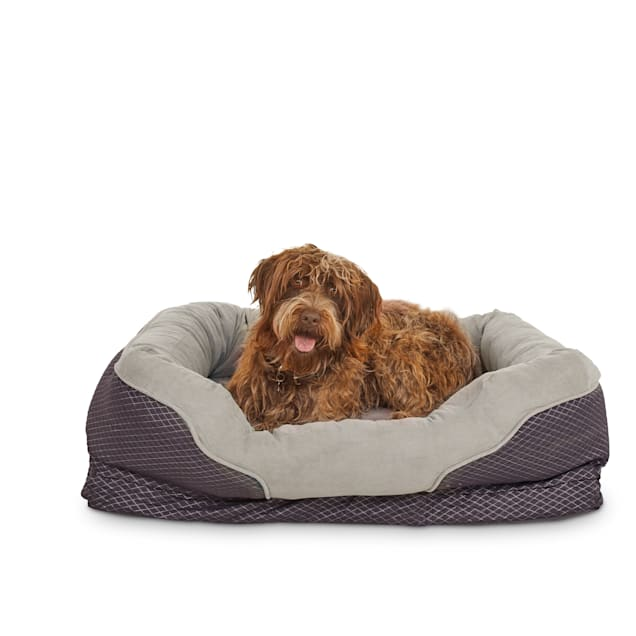 """Orthopedic Peaceful Nester Gray Dog Bed, 40"""" L x 30"""" W - Carousel image #1"""