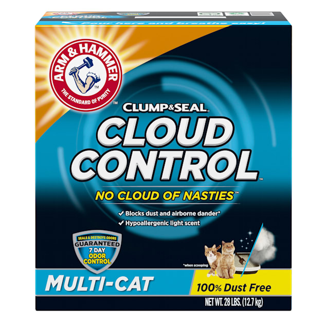 Arm & Hammer Clump & Seal Cloud Control Multi-Cat Litter, 28 lbs. - Carousel image #1