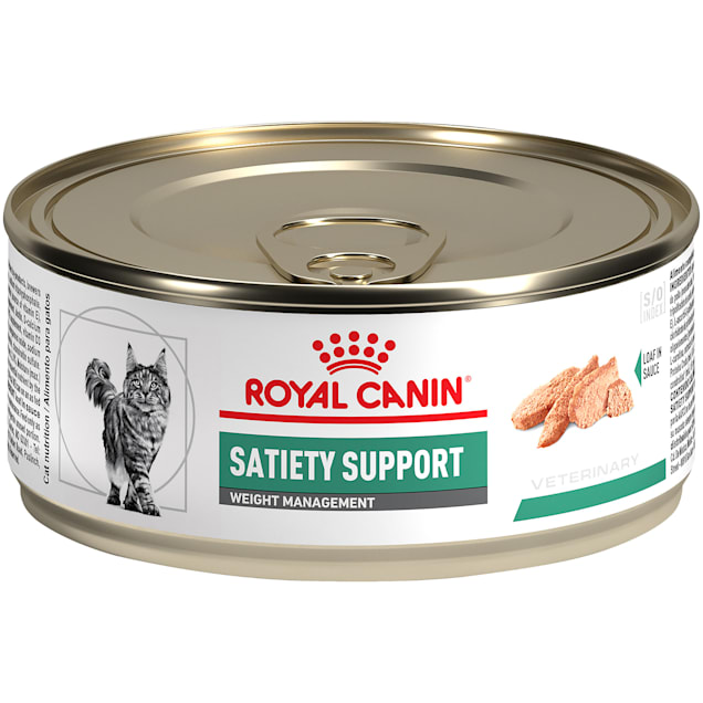 Royal Canin Veterinary Diet Satiety Support Weight Management Loaf in Sauce Wet Cat Food, 5.8 oz., Case of 24 - Carousel image #1