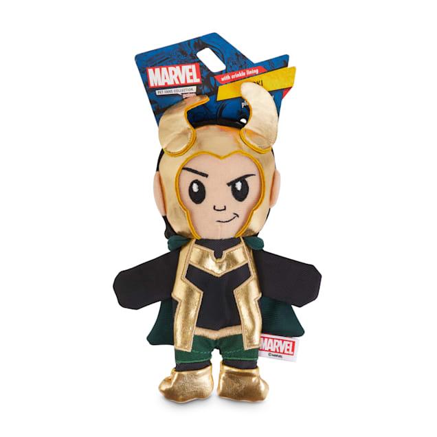 Marvel Avengers Loki Flattie Dog Toy, Small - Carousel image #1