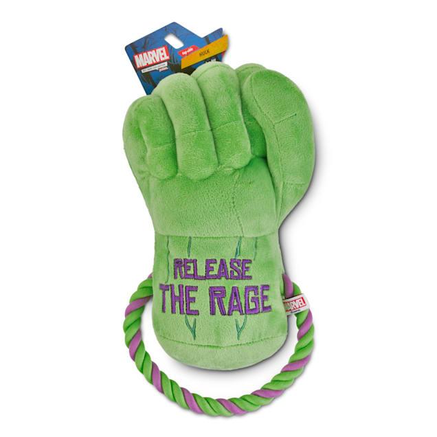 Marvel Avengers Hulk Fist Rope Handle Dog Toy, Large - Carousel image #1