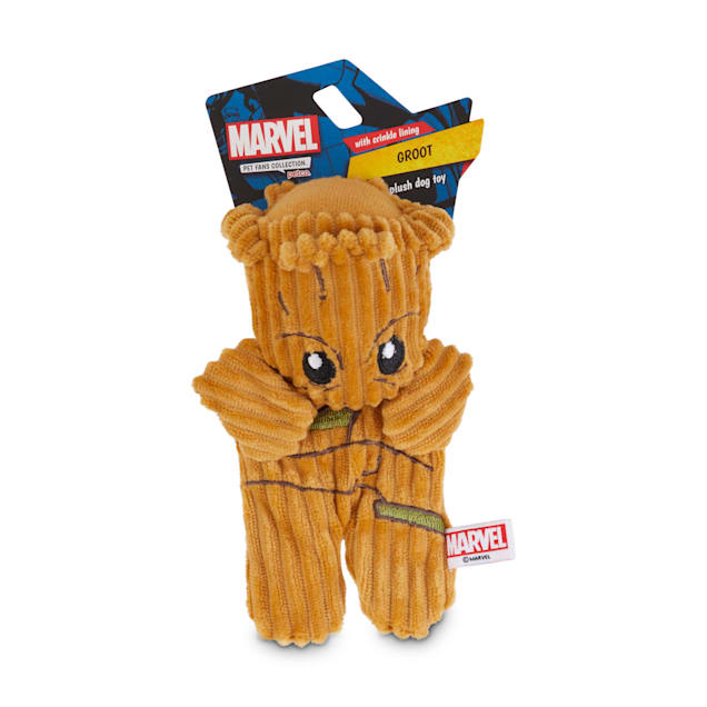 Marvel Guardians of the Galaxy Groot Flattie Dog Toy, Small - Carousel image #1