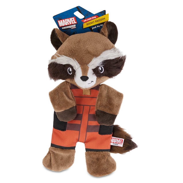 Marvel Guardians of the Galaxy Rocket Raccoon Flattie Dog Toy, Medium - Carousel image #1