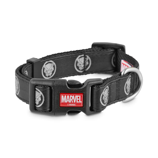 Marvel Avengers Reflective Black Panther Dog Collar, Small - Carousel image #1