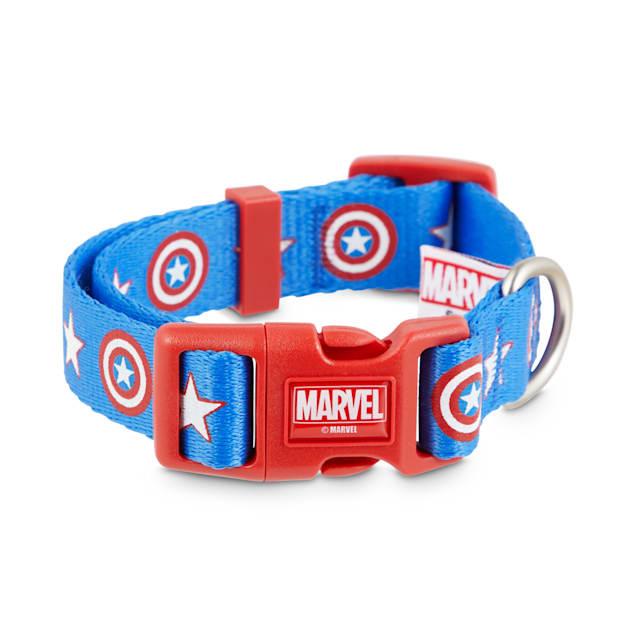 Marvel Avengers Captain America Dog Collar, Small - Carousel image #1