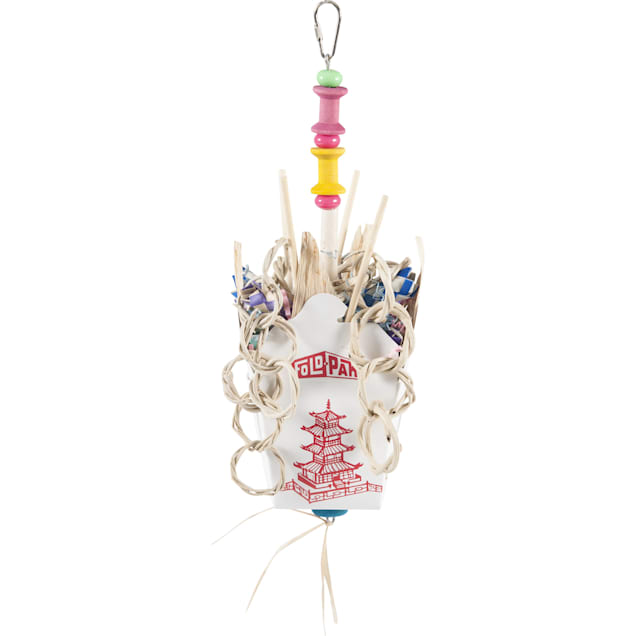 A&E Cage Chinese Takeout Hanging Bird Toy, Medium - Carousel image #1