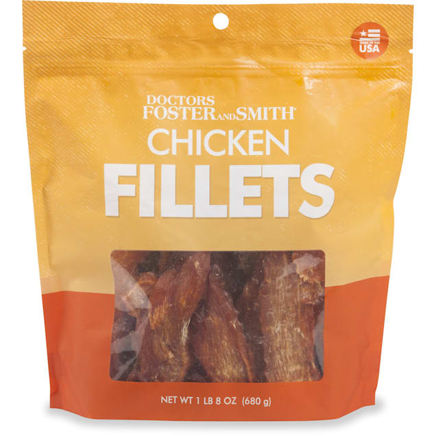 Drs. Foster and Smith Chicken Fillets Dog Treats, 1.8 Lbs. - Carousel image #1