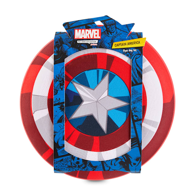 Marvel Avengers Captain America Shield Flyer Dog Toy, Medium - Carousel image #1