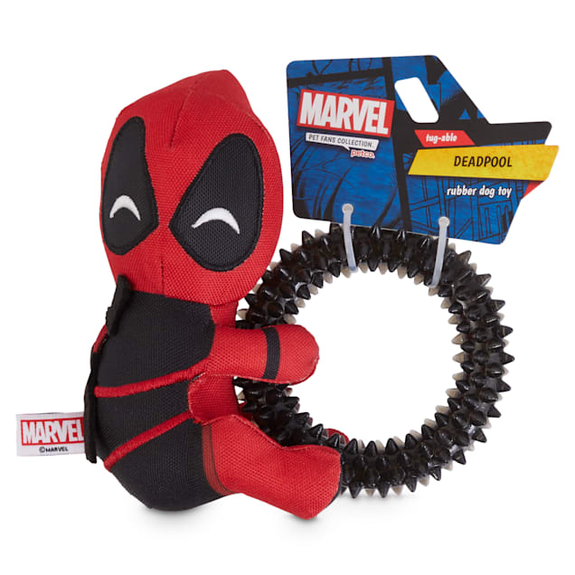 Marvel Deadpool Rubber Dog Toy, Small - Carousel image #1