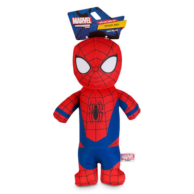 Marvel Spider-Man Bottle Cruncher Stick Dog Toy, Medium - Carousel image #1