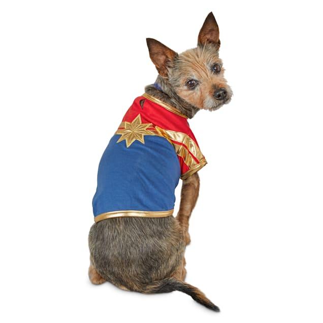 Marvel Avengers Captain Marvel Dog T-Shirt, X-Small - Carousel image #1