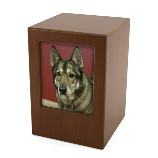 A Pet's Life Personalized X-Large Photo Frame Cremation Urn, Honeynut, Pet Memorial for Pet Weight Up to 195 lbs. - Carousel image #1