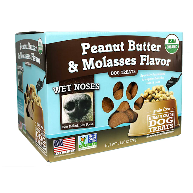 Wet Noses Grain Free Peanut Butter Molasses Dog Treats, 5 lbs. - Carousel image #1