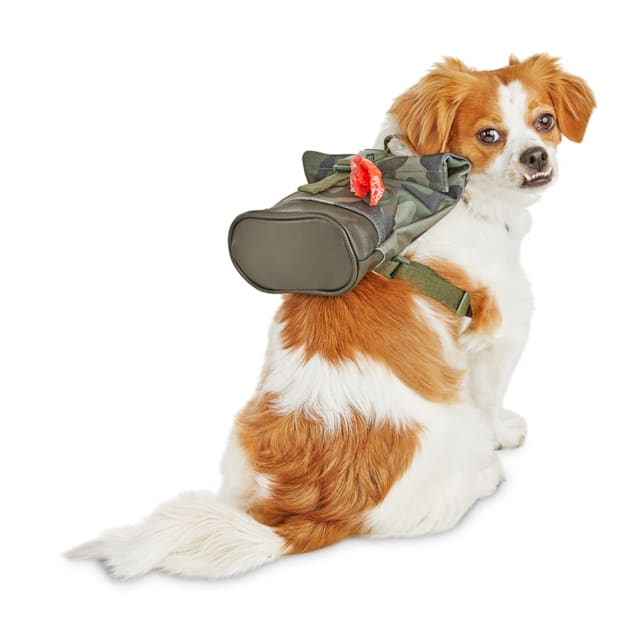Reddy Camo Canvas Dog Backpack, X-Small/Small - Carousel image #1