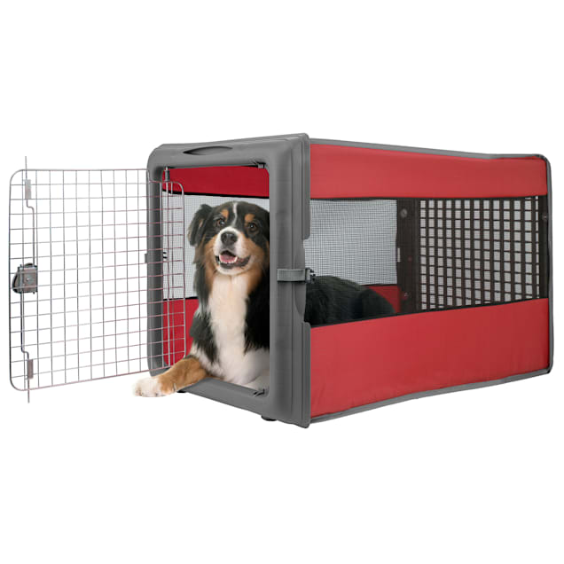 Sport Pet Travel Pop up Crate Red for Dogs, Large - Carousel image #1