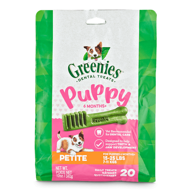 Greenies Puppy 6+ Months Petite Size Dental Treats, 12 oz., Count of 20 - Carousel image #1