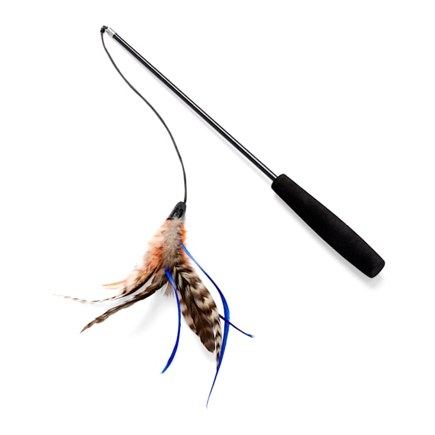 Leaps & Bounds Thrill & Chase Flexible Feathered Teaser Cat Toy - Carousel image #1