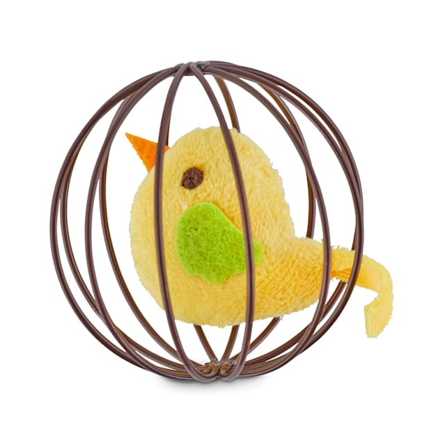 Leaps & Bounds Pounce & Play Chirping Bird Ball Cat Toy - Carousel image #1