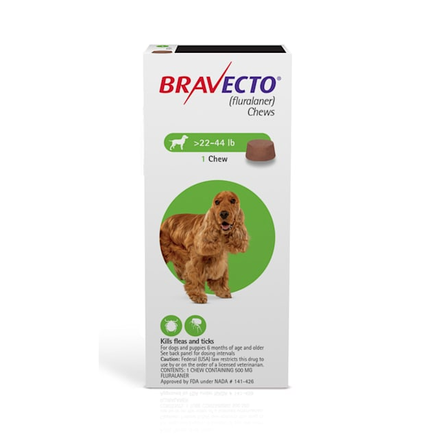 Bravecto Chews for Dogs 22-44 lbs, 3 Month Supply - Carousel image #1