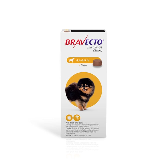 Bravecto Chews for Dogs 4.4-9.9 lbs, 3 Month Supply - Carousel image #1
