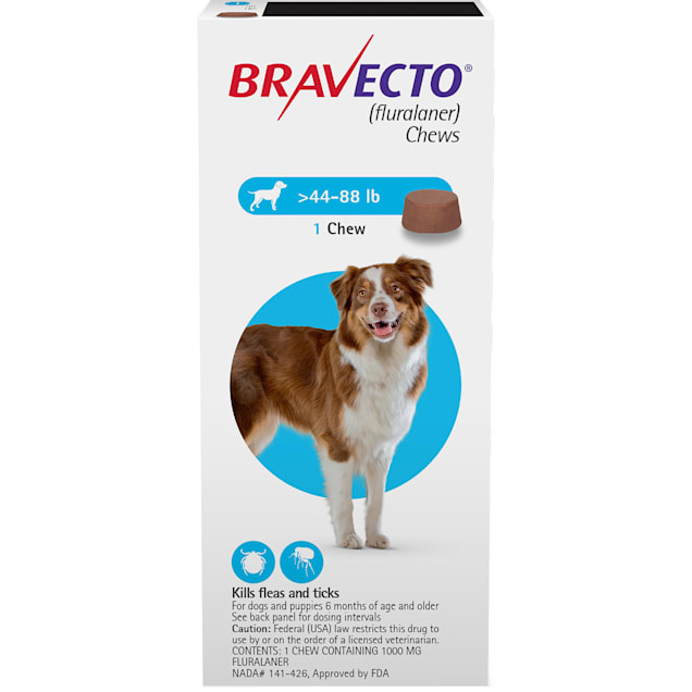 Bravecto Chews for Dogs 44-88 lbs, 3 Month Supply - Carousel image #1