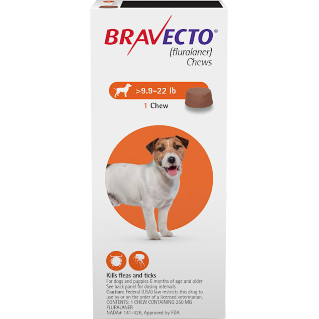 Bravecto Chews for Dogs 9.9-22 lbs, 3 Month Supply - Carousel image #1