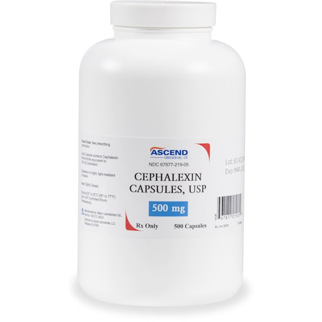 Cephalexin (Generic) 500 mg, Single Capsule - Carousel image #1