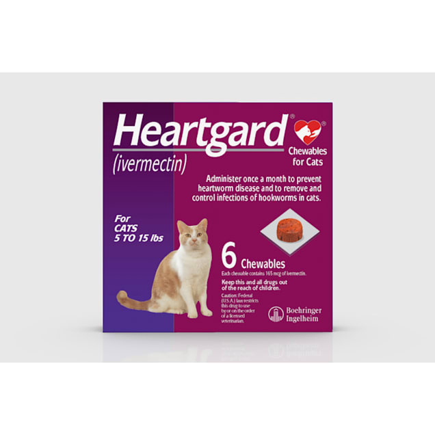 Heartgard Chewables for Cats 5 to 15 lbs, 6 Month Supply - Carousel image #1