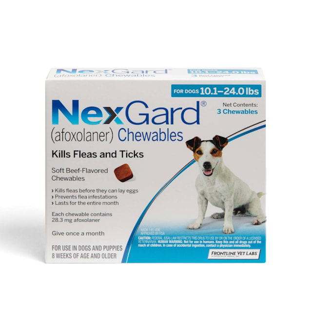 NexGard Chewables for Dogs 10.1 to 24 lbs, 3 Month Supply - Carousel image #1