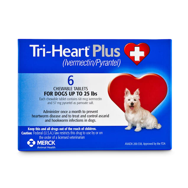 Tri-Heart Plus Chewable Tablets for Dogs Up to 25 lbs, 6 Month Supply - Carousel image #1