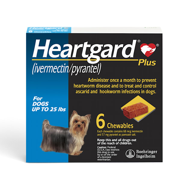 Heartgard Plus Chewables for Dogs Up to 25 lbs, 6 Month Supply - Carousel image #1