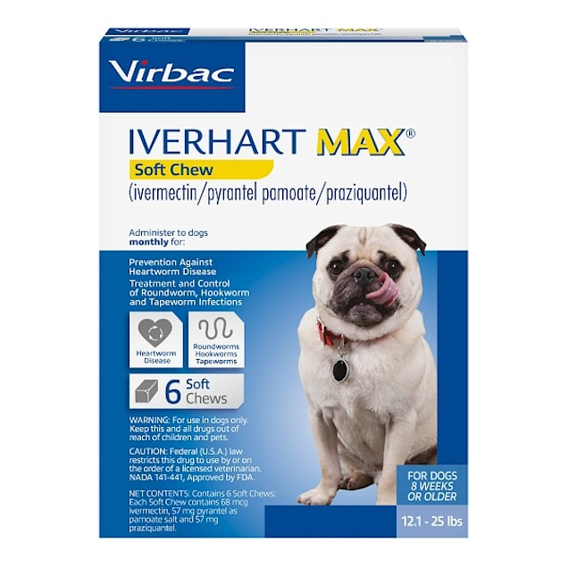 Iverhart Max Soft Chews for Dogs 12 to 25 lbs, 6 Month Supply - Carousel image #1
