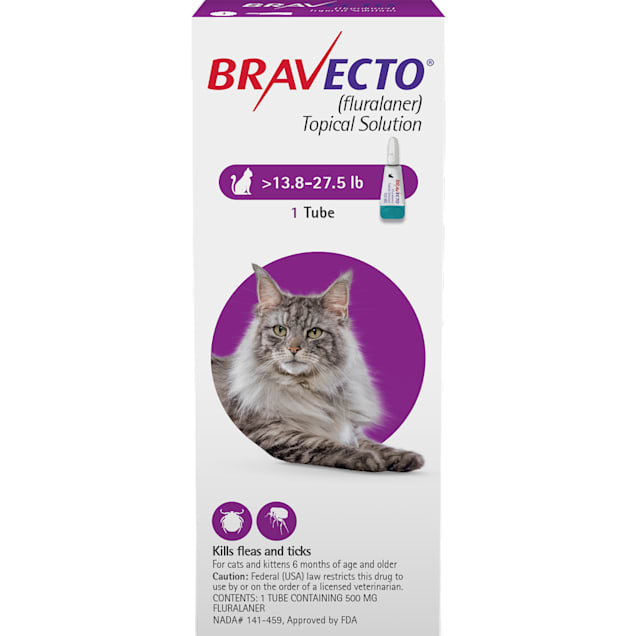 Bravecto Topical Solution for Cats 13.8-27.5 lbs, 3 Month Supply - Carousel image #1