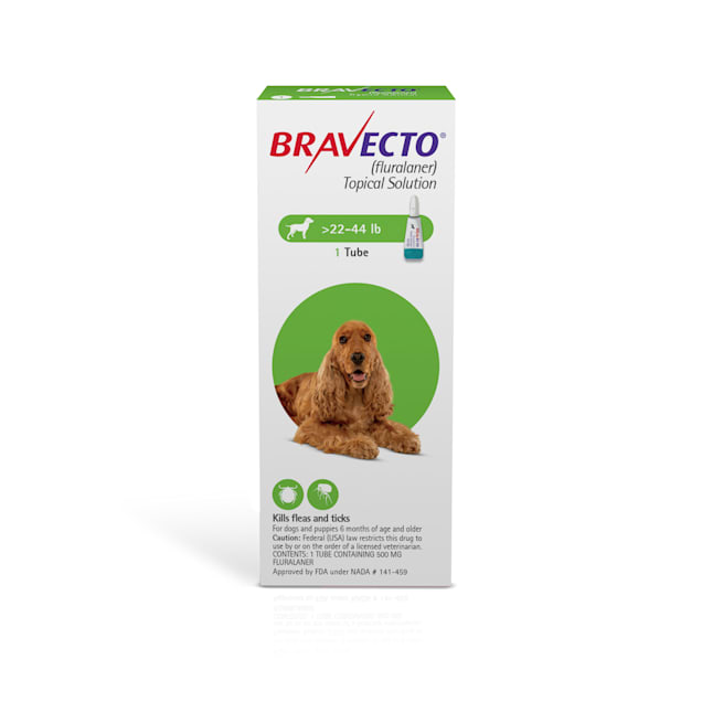 Bravecto Topical Solution for Dogs 22-44 lbs, 3 Month Supply - Carousel image #1