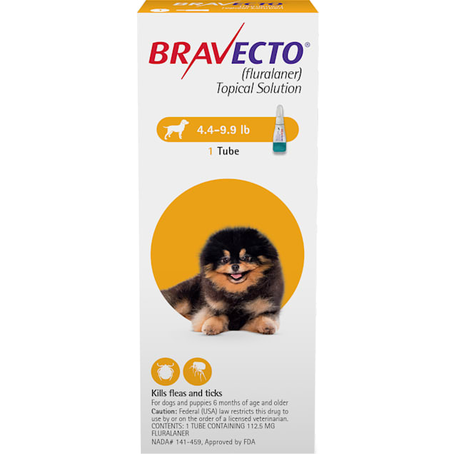 Bravecto Topical Solution for Dogs 4.4-9.9 lbs, 3 Month Supply - Carousel image #1