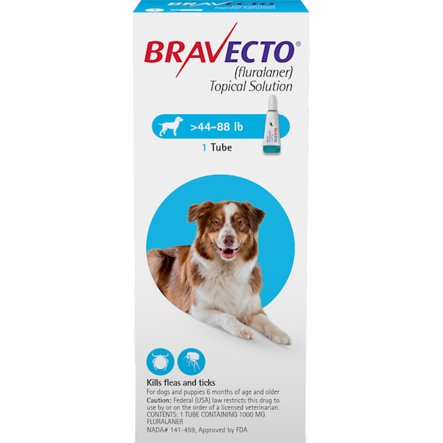 Bravecto Topical Solution for Dogs 44-88 lbs, 3 Month Supply - Carousel image #1