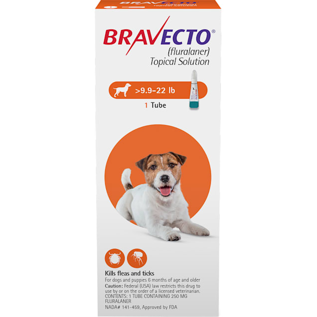 Bravecto Topical Solution for Dogs 9.9-22 lbs, 3 Month Supply - Carousel image #1