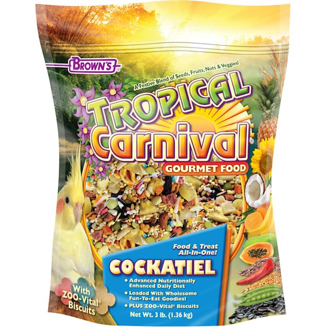 Brown's Tropical Carnival Cockatiel Food, 3 lbs. - Carousel image #1
