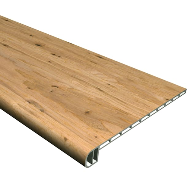 """Cali Vinyl Natural Eucalyptus Pro Wide and Click VF Stair Tread 7/32"""" - Carousel image #1"""
