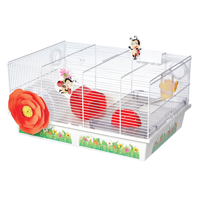 """Midwest Critterville Ladybug Hamster Cage, 13.85"""" L X 19.4"""" W X 9.8"""" H - Carousel image #1"""