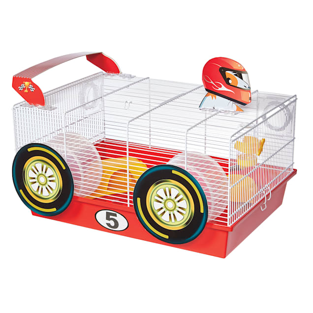 """Midwest Critterville Racecar Hamster Cage, 13.85"""" L X 19.4"""" W X 9.8"""" H - Carousel image #1"""