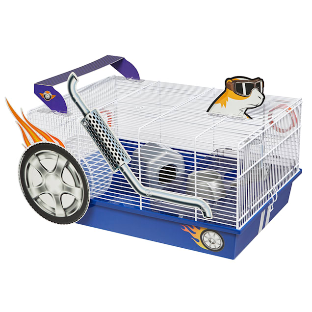 """Midwest Critterville Hot Rod Hamster Cage, 13.85"""" L X 19.4"""" W X 9.8"""" H - Carousel image #1"""