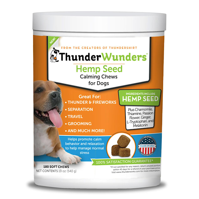 ThunderWunders Hemp Calming Chews, Count of 180 - Carousel image #1