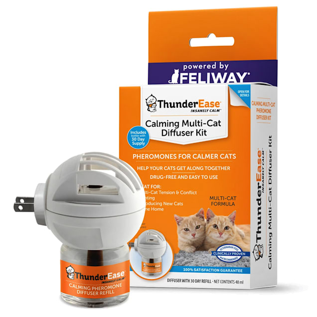 ThunderEase Calming Diffuser Kit for Multi-Cat, 48 ml. - Carousel image #1