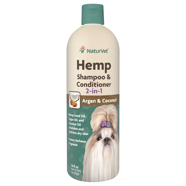 NaturVet Hemp 2-in-1 Shampoo & Conditioner for Dogs, 16 fl. oz. - Carousel image #1