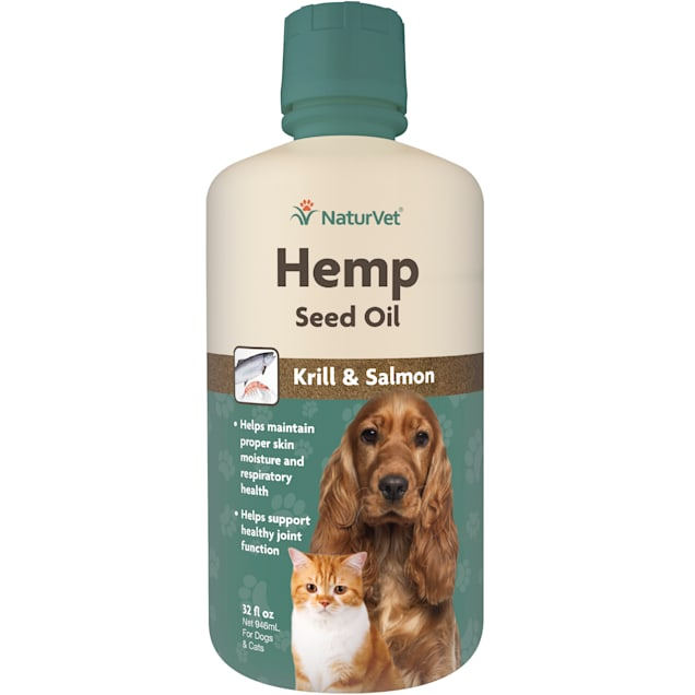 NaturVet Hemp Seed Oil, Krill & Salmon for Pets, 32 oz. - Carousel image #1