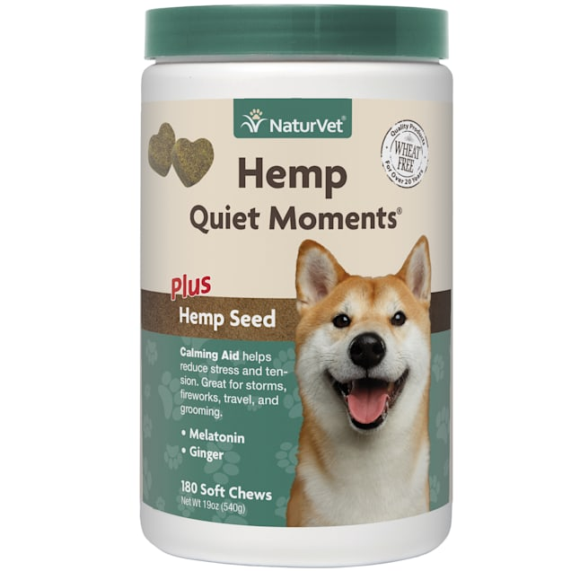 Naturvet Quiet Moments Plus Hemp Calming Aid Soft chews for Dogs, Count of 180 - Carousel image #1