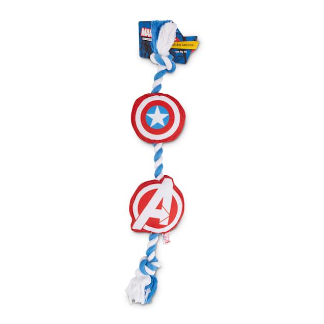 Marvel Avengers Captain America Rope Dog Toy, Large - Carousel image #1