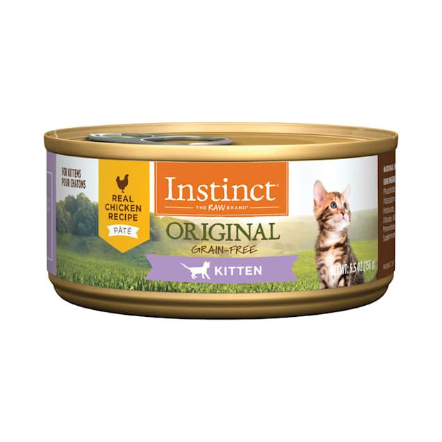 Instinct Original Kitten Grain-Free Pate Real Chicken Recipe Wet Cat Food, 5.5 oz., Case of 12 - Carousel image #1